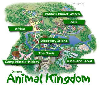 animal kingdom theme park map