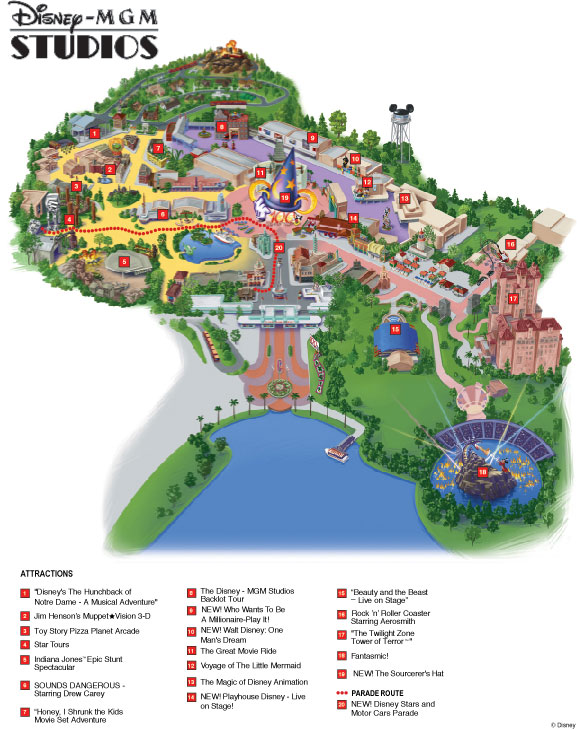 disney mgm studio theme park map